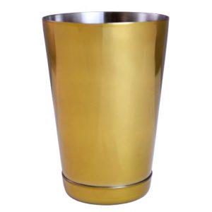 Gold Plated Boston Shaker Tin 18oz