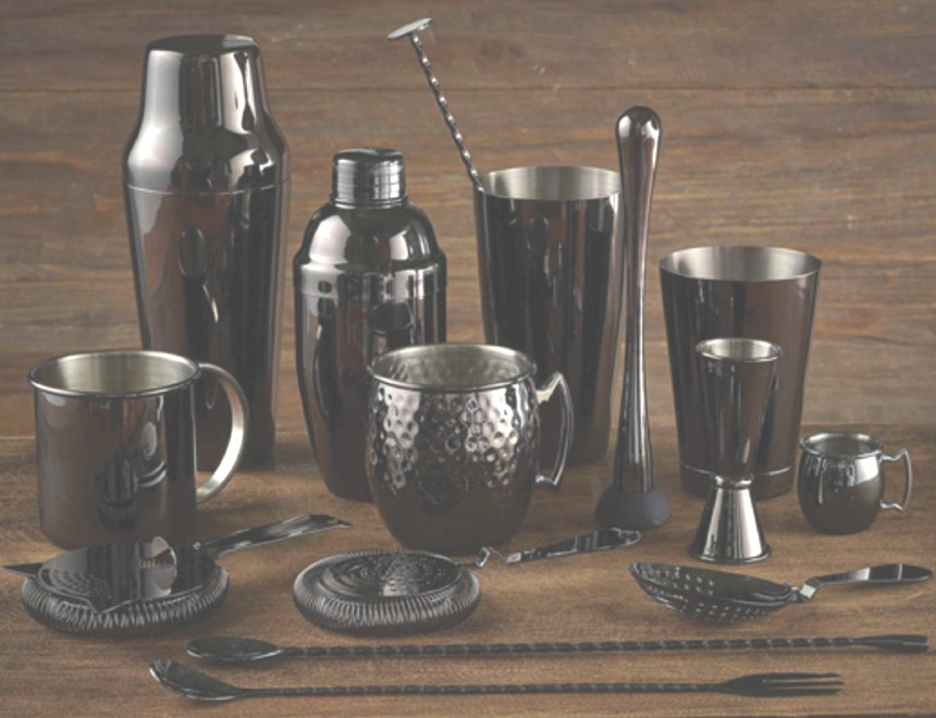 Gun Metal Barware equipment