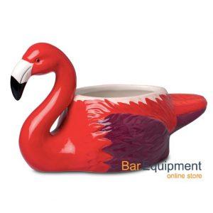 tiki flamingo mug