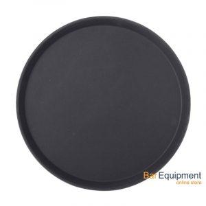 Black Non Slip Tray Round