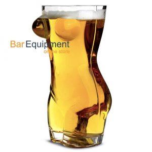 sexy torso beer glass