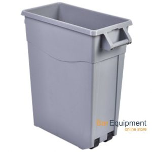 Grey Slim Recycling Bin 65ltr